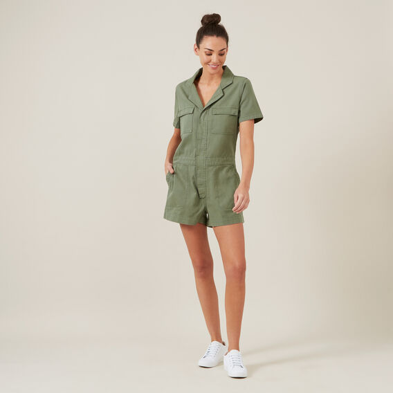 BOILER PLAYSUIT  KHAKI  hi-res