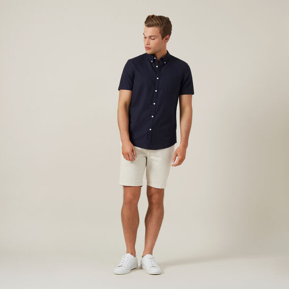 OXFORD S/S CUSTOM FIT SHIRT  OXFORD BLUE  hi-res