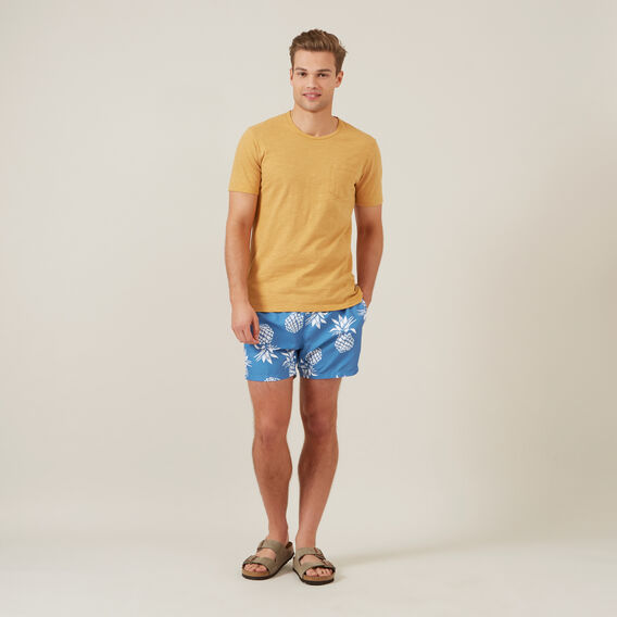 LARGE PINEAPPLE SWIM SHORT  DUSK BLUE  hi-res