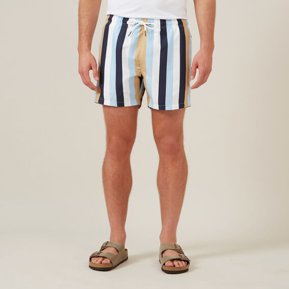 MULTI STRIPE SWIM SHORT  MULTI  hi-res