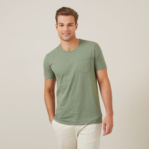 SNOW WASH SLUB T-SHIRT  LIGHT GREEN  hi-res