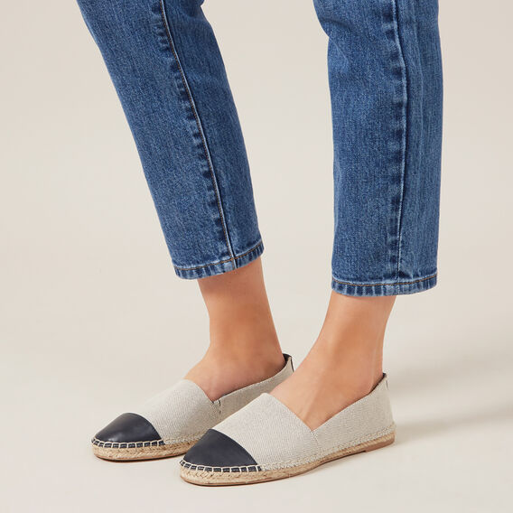 CAP TOE ESPADRILLE  NATURAL/NAVY  hi-res