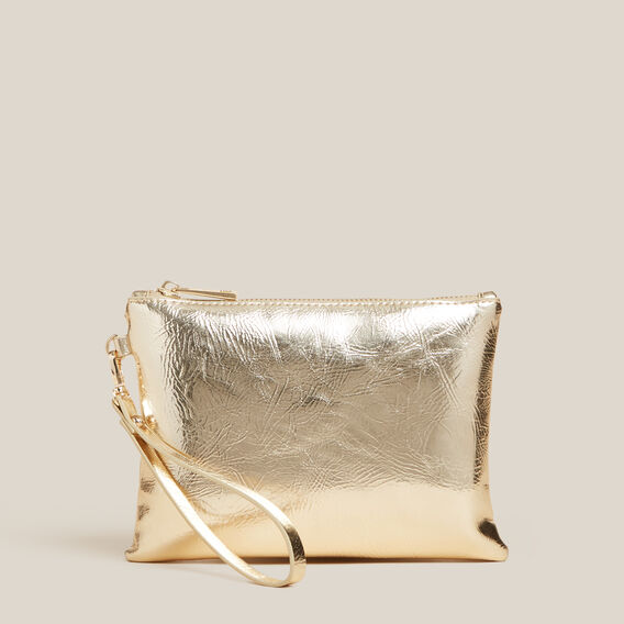 GOLD METALLIC POUCH  GOLD  hi-res