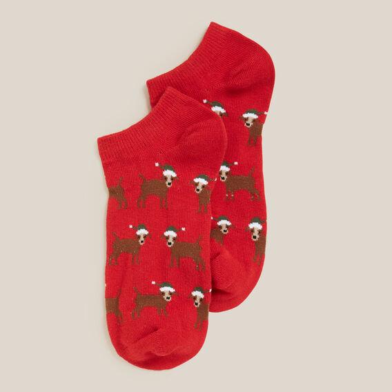 CHRISTMAS DOG SOCK  RED  hi-res