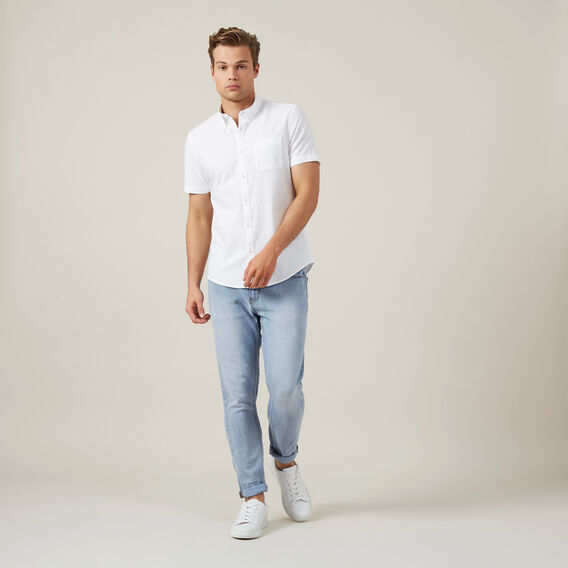 OXFORD S/S CUSTOM FIT SHIRT  WHITE  hi-res