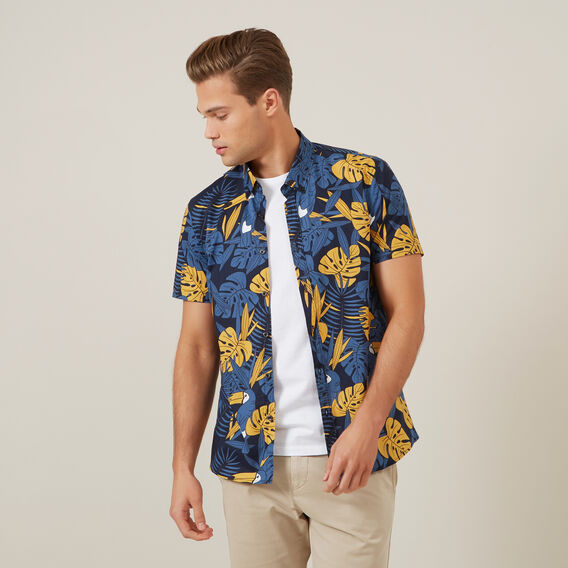 TROPICAL TOUCAN CLASSIC FIT SHIRT  MARINE BLUE  hi-res