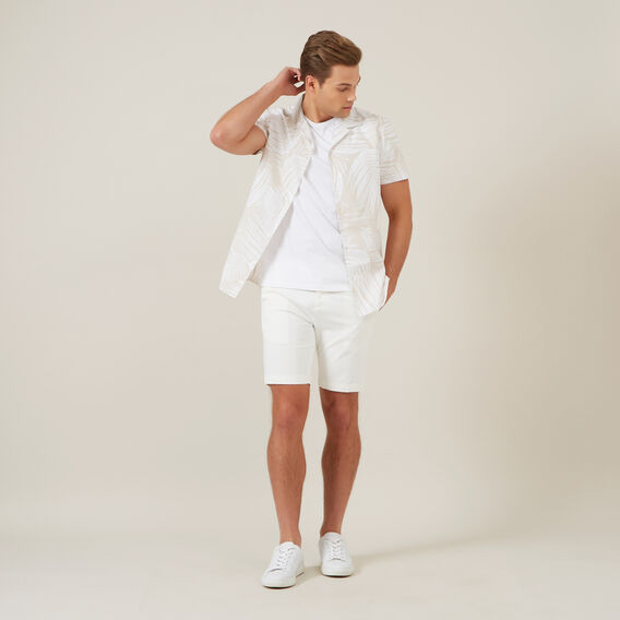 WHITE PALM S/S CLASSIC FIT SHIRT  WHITE/STONE  hi-res