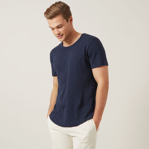 TEXTURED T-SHIRT  MARINE BLUE  hi-res