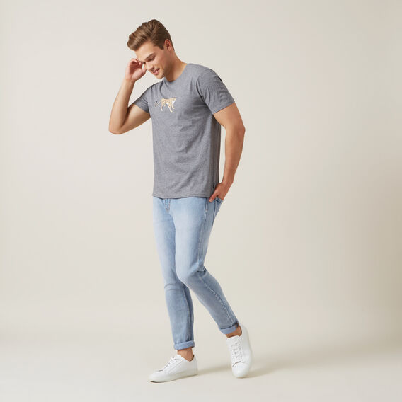 CHEETAH T-SHIRT  GREY MARL  hi-res