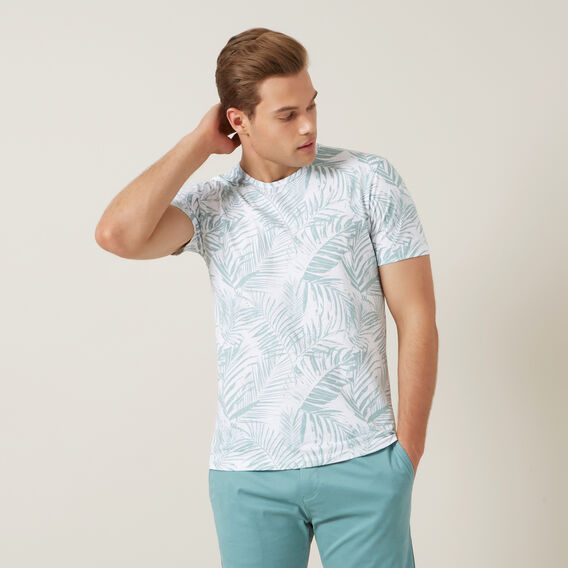 FLORAL T-SHIRT  WHITE  hi-res