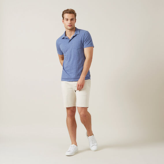 SNOW WASH SLUB POLO  CORNFLOWER BLUE  hi-res