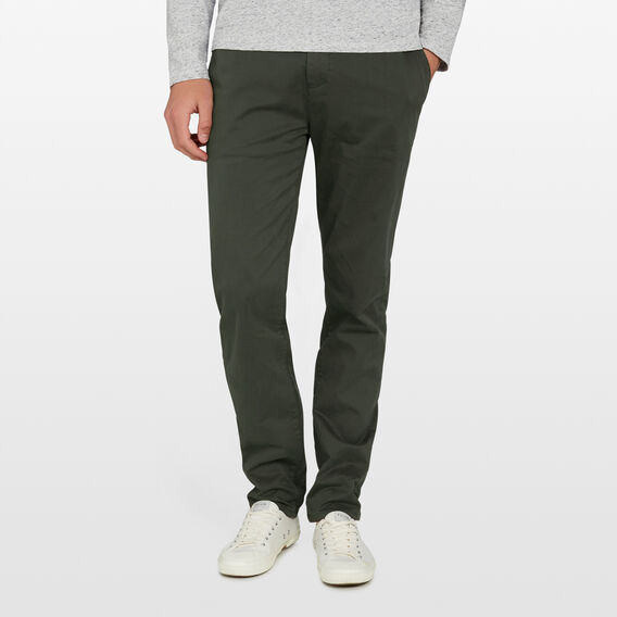 REGULAR FIT STRETCH CHINO PANT  PINE GREEN  hi-res