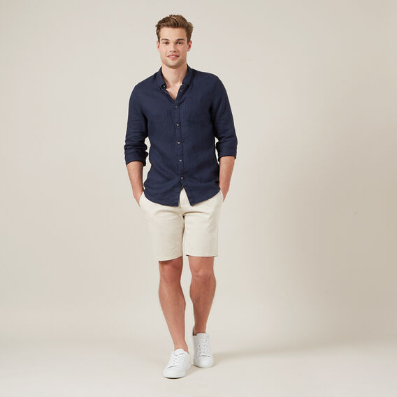 SLIM-FIT STRETCH CHINO SHORT  SALT  hi-res