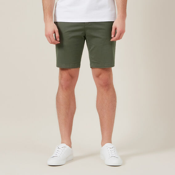 SLIM-FIT STRETCH CHINO SHORT  NEO KHAKI  hi-res