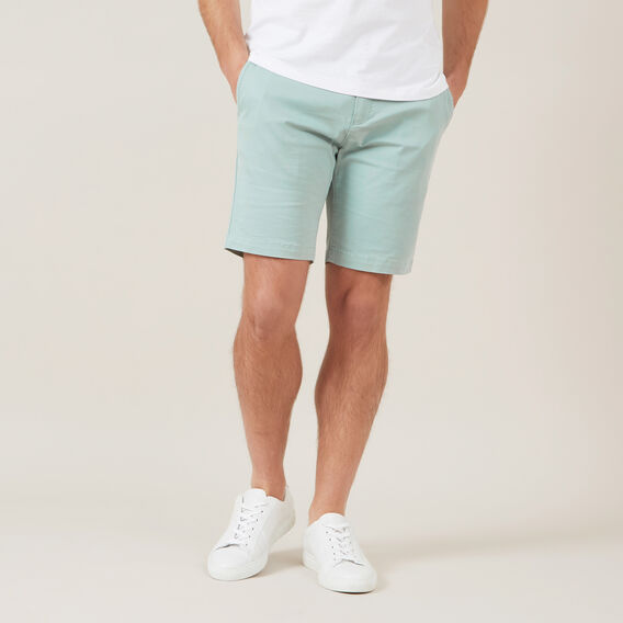 SLIM-FIT STRETCH CHINO SHORT  SEA GREEN  hi-res