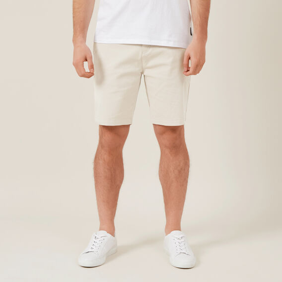 RELAXED FIT STRETCH CHINO SHORT  SALT  hi-res