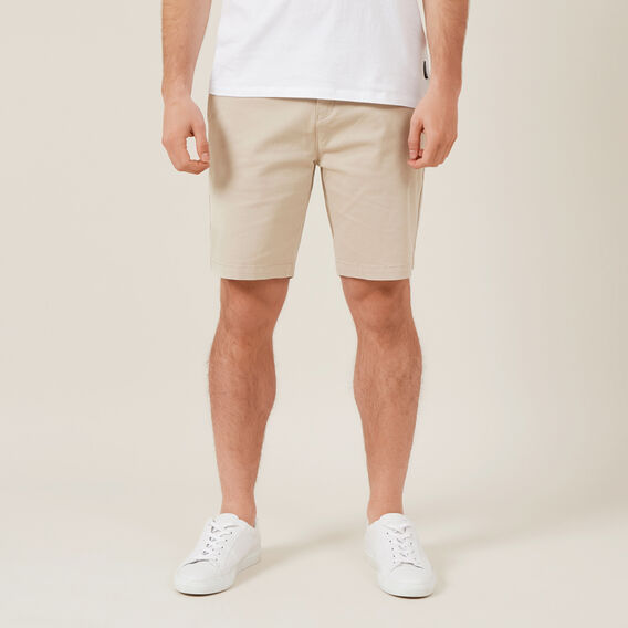 RELAXED FIT STRETCH CHINO SHORT  STONE  hi-res