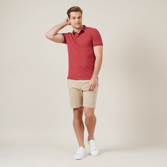 OXFORD PIQUE POLO  BERRY  hi-res