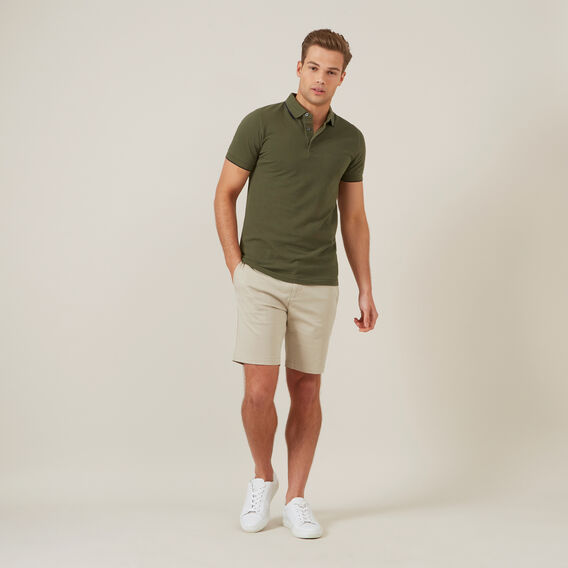 OXFORD PIQUE POLO  KHAKI  hi-res