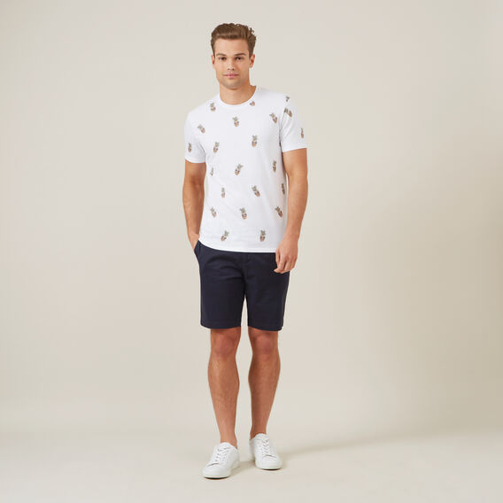 ALL OVER PINEAPPLE T-SHIRT  WHITE  hi-res