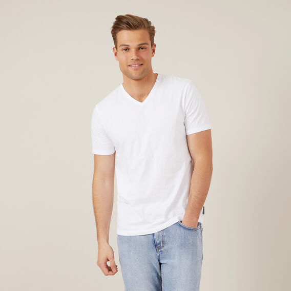 CLASSIC V-NECK T-SHIRT  WHITE  hi-res