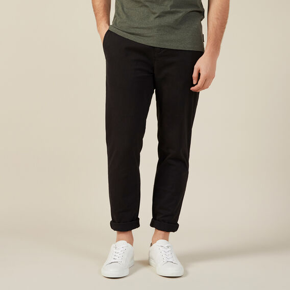 REGULAR FIT CHINO PANT  BLACK  hi-res