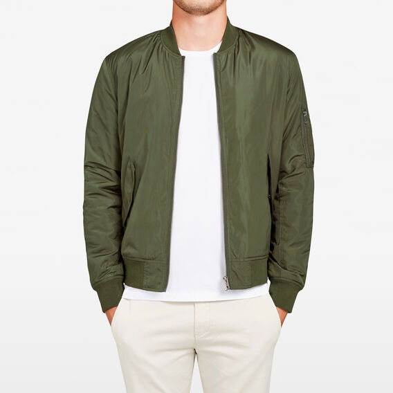 NYLON AVIATOR BOMBER JACKET  MILITARY GREEN  hi-res