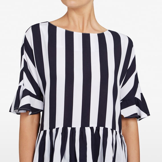 STRIPE PEPLUM SHIRT  NOCTURNAL/SUMMER WHI  hi-res