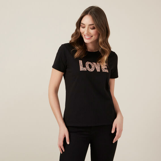 ANIMAL LOVE TEE  BLACK  hi-res