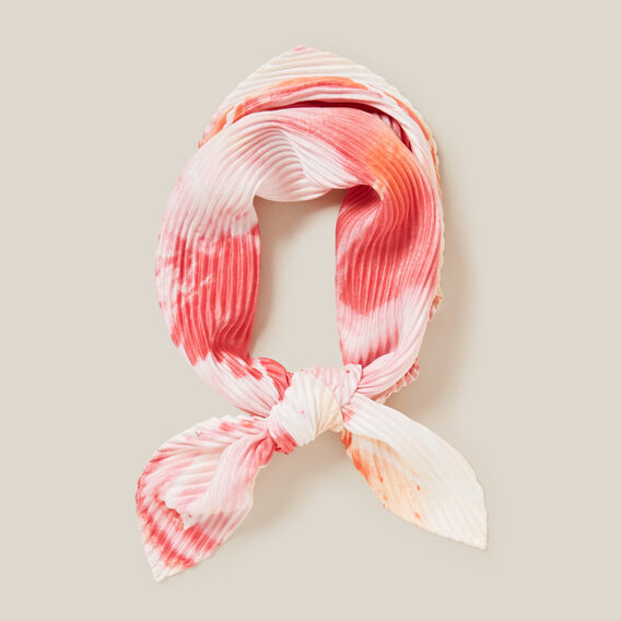 PINK MARBLE PLEATED SCARF  PINK MULTI  hi-res