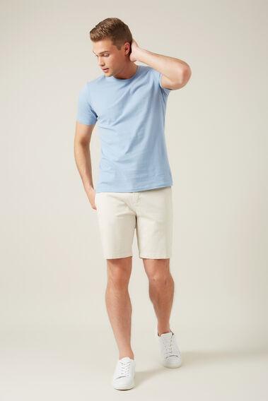 CLASSIC CREW NECK T-SHIRT  POWDER BLUE  hi-res