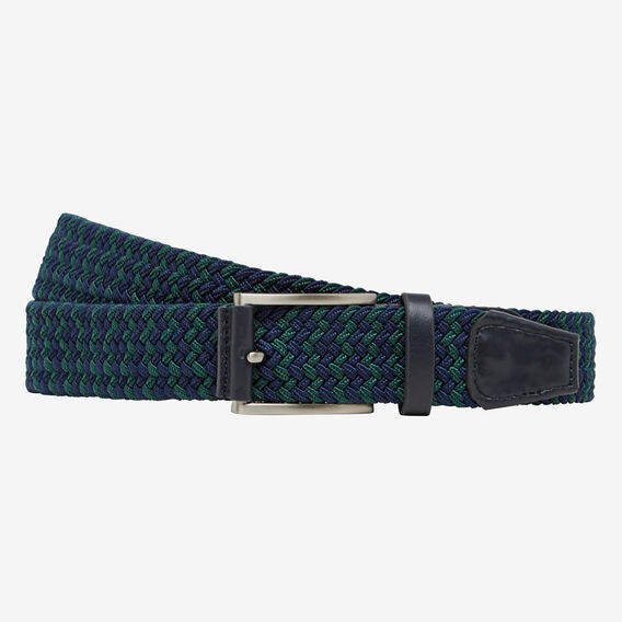STRETCH PLAITED BELT  NAVY/FOREST  hi-res