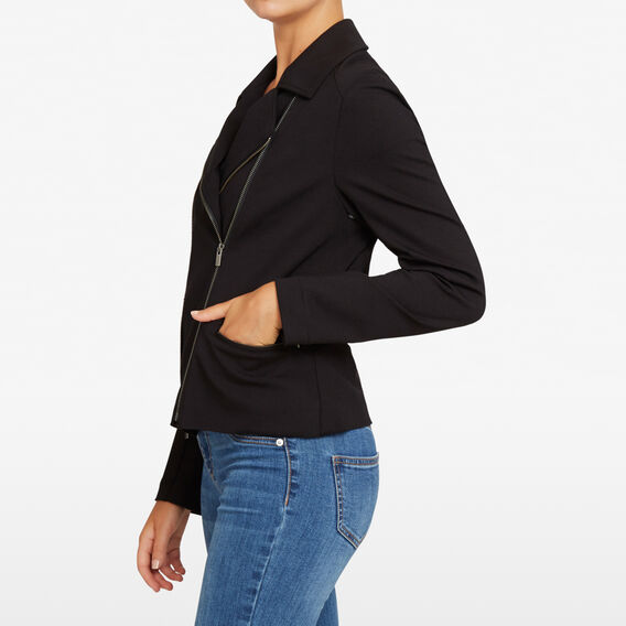 STRETCH BIKER JACKET  BLACK  hi-res