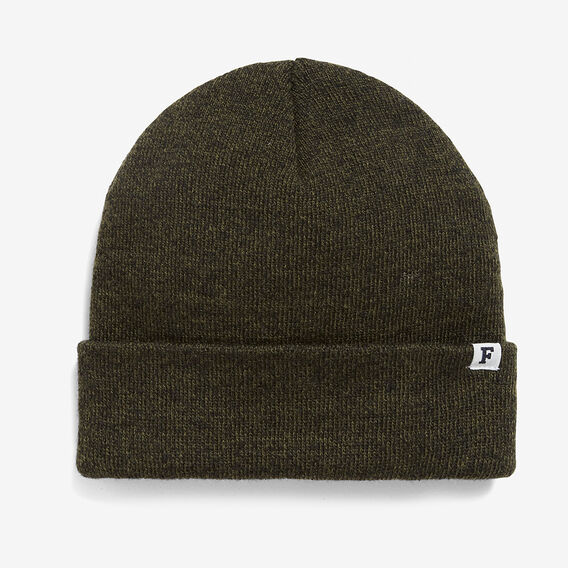 TEXTURED KNIT BEANIE  KHAKI  hi-res