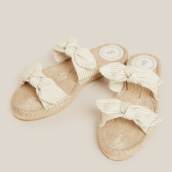 DOUBLE BOW ESPADRILLE SANDAL  NATURAL/STRIPE  hi-res