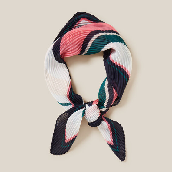 STRIPE PLEATED SCARF  MULTI  hi-res
