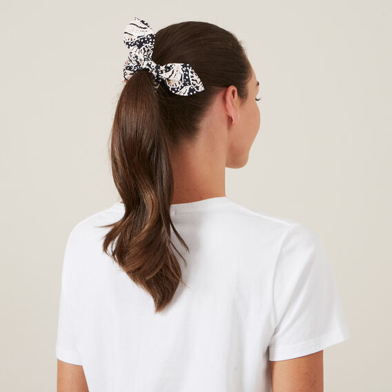 PRINTED HAIR SCRUNCHIE  MULTI  hi-res
