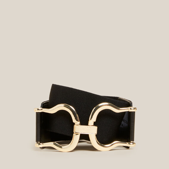 DOUBLE RING BELT  BLACK/GOLD  hi-res