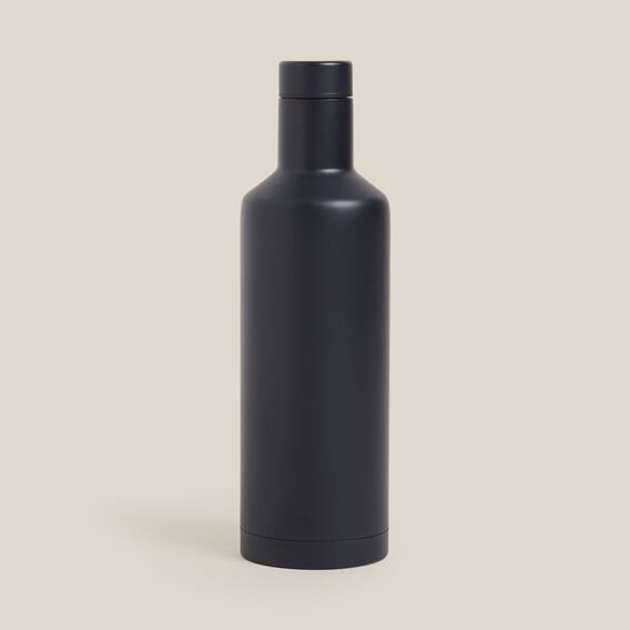 STAINLESS STEEL WATER BOTTLE  NAVY  hi-res