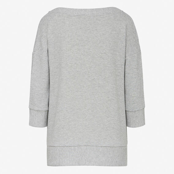 DANNI V NECK TEE  GREY MARLE  hi-res