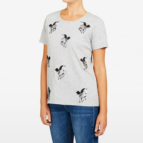 UNICORN TEE  GREY MARLE  hi-res
