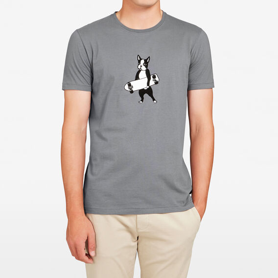 BOSTON TERRIER T-SHIRT  CHARCOAL  hi-res