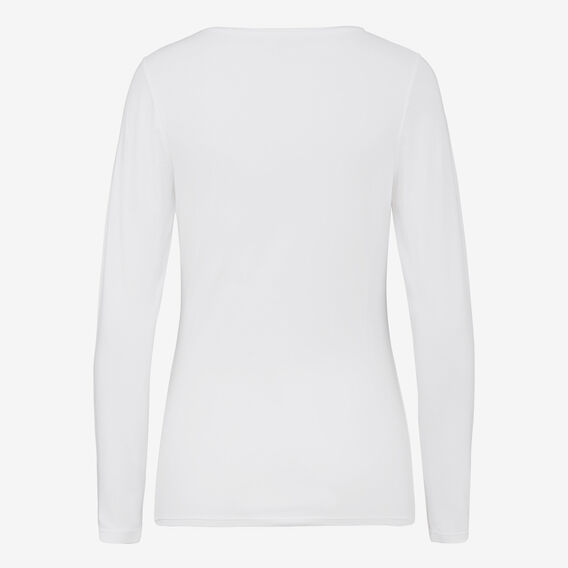 LONGSLEEVE SCOOP NECK TEE  WHITE  hi-res