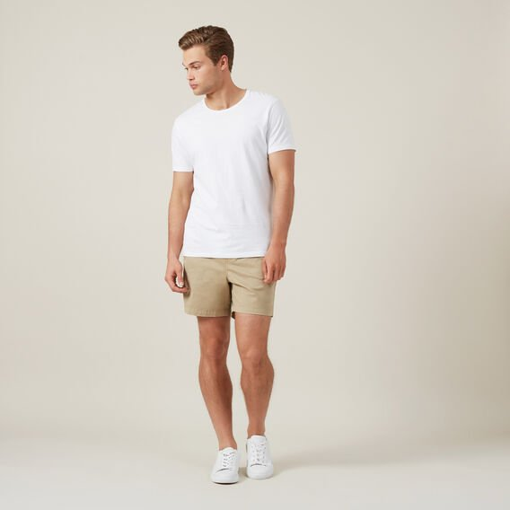 COTTON PULL ON SHORT  SAND  hi-res