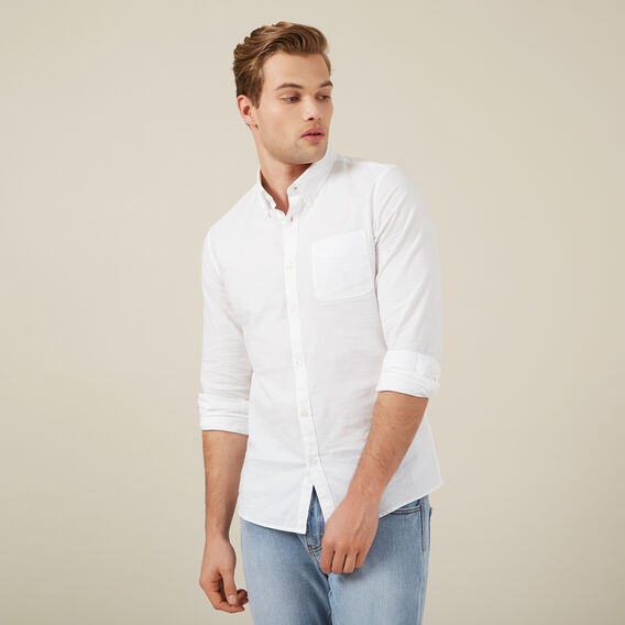 OXFORD SLIM FIT SHIRT  WHITE  hi-res