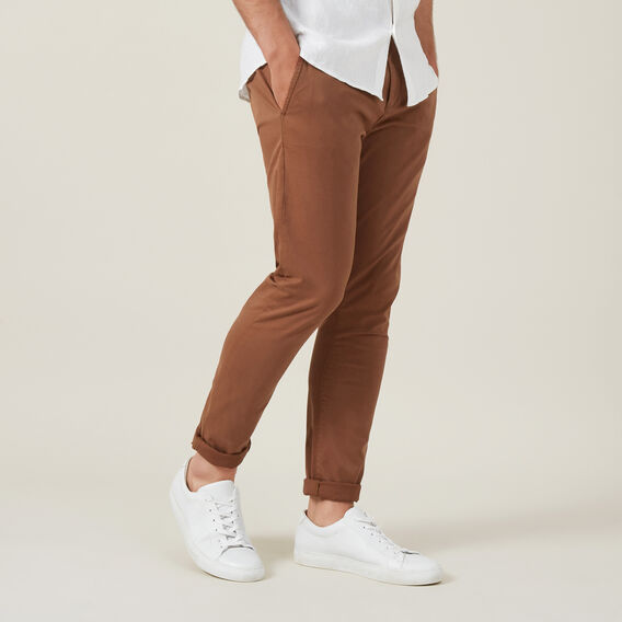 SLIM FIT CHINO PANT  RUST  hi-res