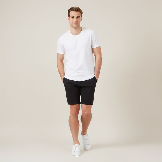 SLIM FIT CHINO SHORT  BLACK  hi-res