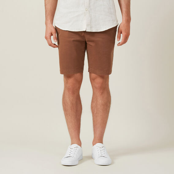 SLIM FIT CHINO SHORT  RUST  hi-res