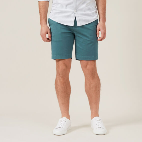 SLIM FIT CHINO SHORT  DEEP TEAL  hi-res