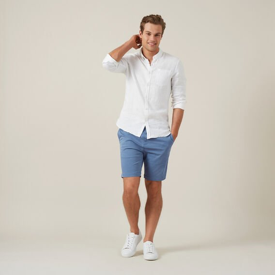 SLIM FIT CHINO SHORT  PACIFIC BLUE  hi-res